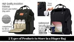 2 Types of Products to Store in a Diaper Bag