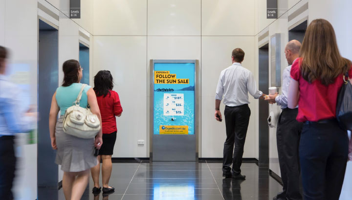 elevator advertising services